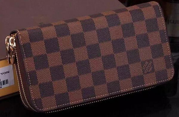 Louis Vuitton Damier Ebene Canvas Zippy Insolite Wallets N61723