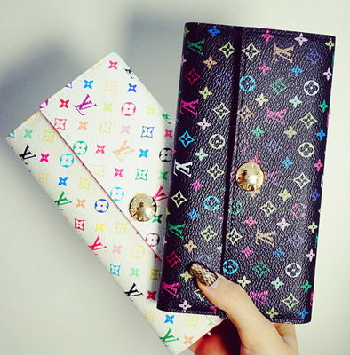 Louis Vuitton M60734 Monogram Multicolore Sarah Wallet