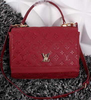 Louis Vuitton Monogram Empreinte Lockme II Bag M41155 Burgundy