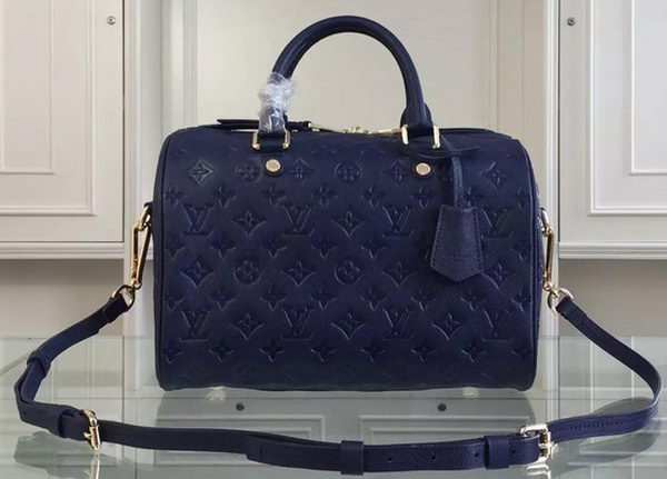 Louis Vuitton Monogram Empreinte Speedy BANDOULIERE 30 M91330 Royal