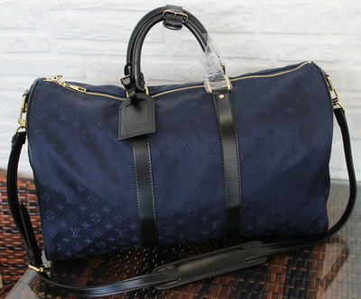 Louis Vuitton Monogram Idylle KEEPALL BANDOULIERE 45 M41428 Blue