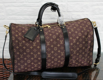 Louis Vuitton Monogram Idylle KEEPALL BANDOULIERE 45 M41428 Brown
