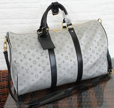 Louis Vuitton Monogram Idylle KEEPALL BANDOULIERE 45 M41428 Grey
