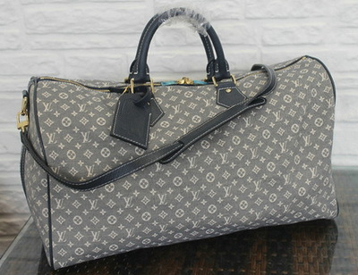 Louis Vuitton Monogram Idylle SPEEDY VOYAGE 45 Bag M56705 Encre