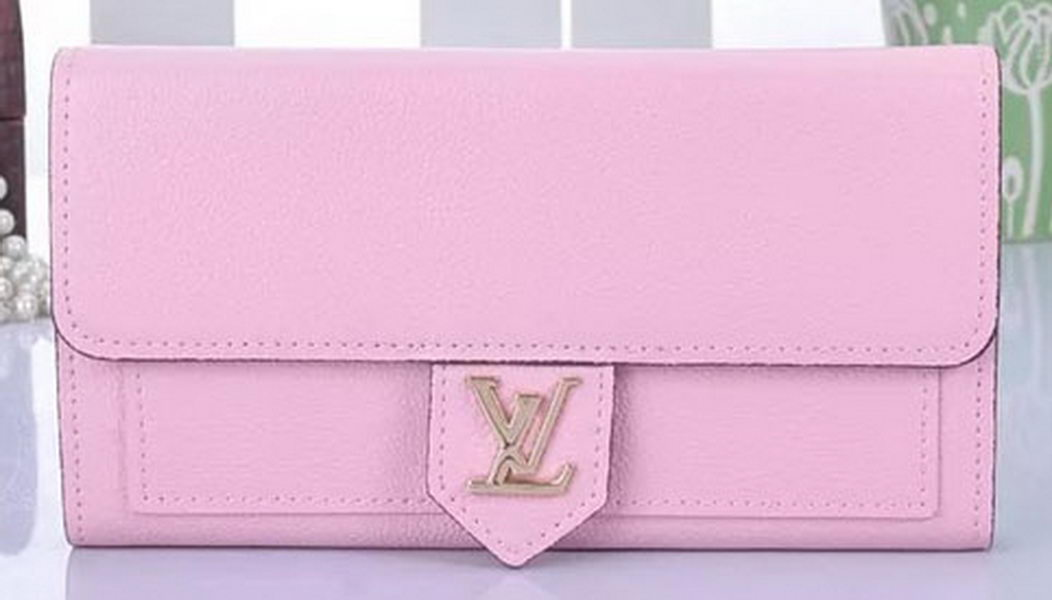 Louis Vuitton Soft Calf Leather LOCKME WALLET M60861 Pink