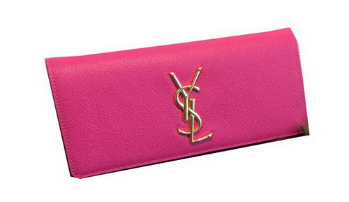 YSL Classic Monogramme Clutch Grainy Leather 311213 Rose