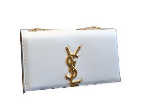 YSL Monogramme Cross-body Shoulder Bag Smooth Leather Y311218 White