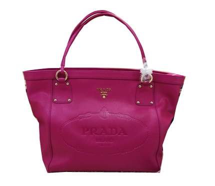 Prada Calfskin Leather Shoulder Bag BL2809 Rose