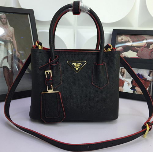 Prada Saffiano Cuir Leather Tote Bag BN2758S Black