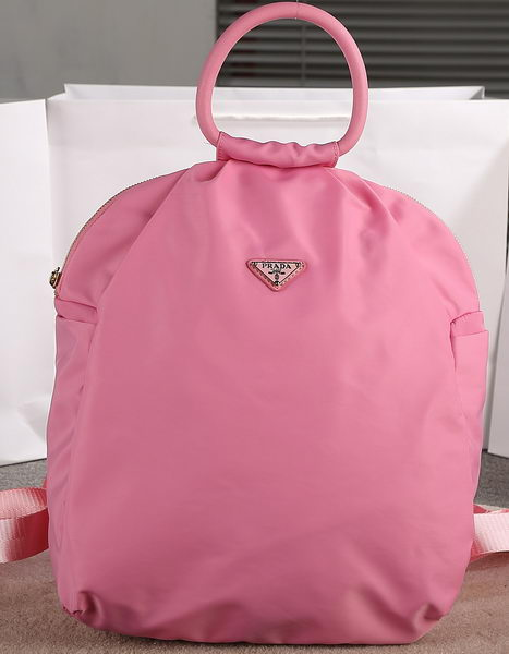 PRADA Technical Nylon Fabric Backpack BZ1180 Pink