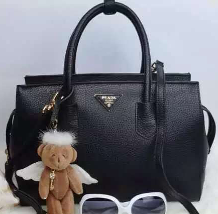 Prada Grainy Leather Tote Bag BN2278 Black