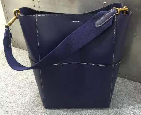 CELINE Sangle Seau Bag in Original Leather C16212 Royal