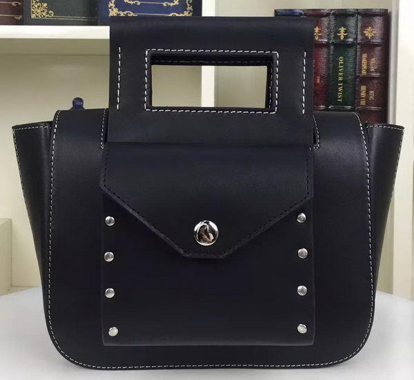 CELINE Square Handbag Original Leather C28832 Black