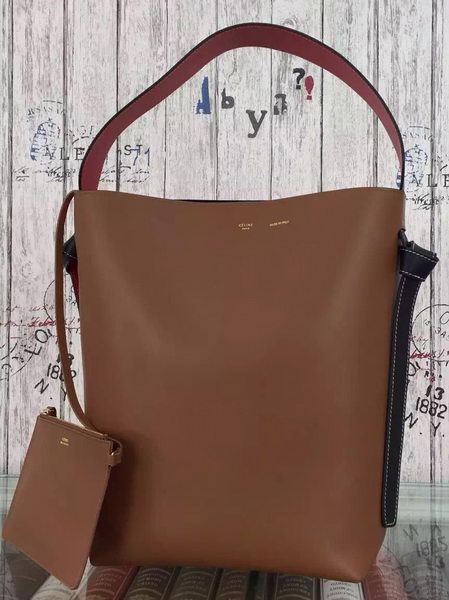 CELINE Twisted Cabas Bag C16211 Brown&Orange
