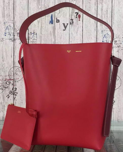 CELINE Twisted Cabas Bag C16211 Red&Orange
