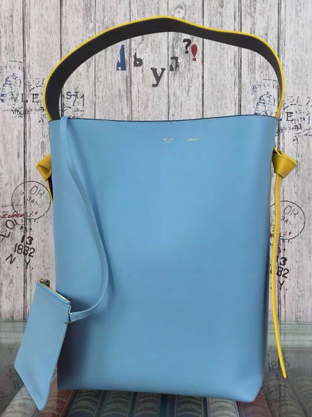 CELINE Twisted Cabas Bag C16211 SkyBlue&Orange
