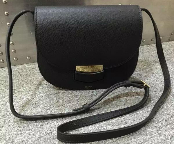Celine Trotteur Bag Calfskin Leather C77425 Black