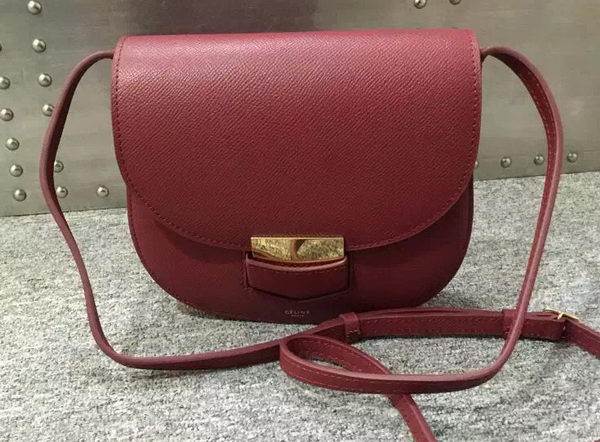 Celine Trotteur Bag Calfskin Leather C77425 Burgundy