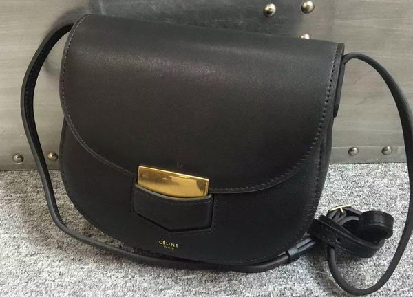 Celine Trotteur Bag Smooth Calfskin Leather C77425 Black