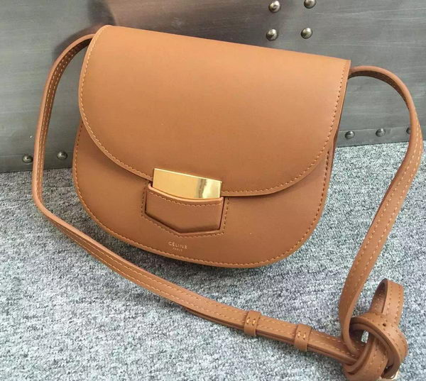 Celine Trotteur Bag Smooth Calfskin Leather C77425 Brown