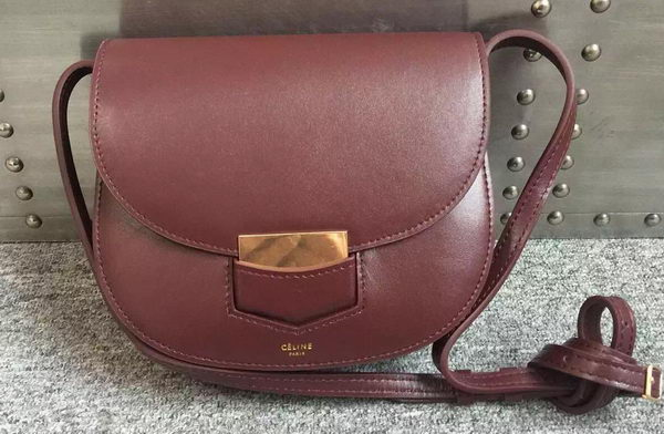 Celine Trotteur Bag Smooth Calfskin Leather C77425 Burgundy