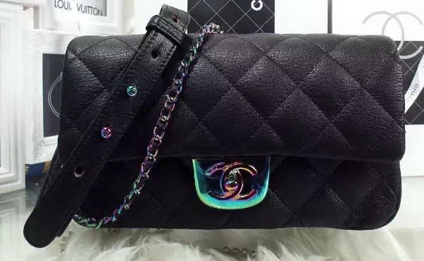 Chanel 2.55 Series Flap Bag Original Lambskin Leather A93134 Black