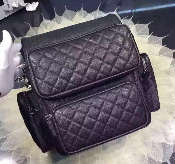Chanel Backpack Original Calfskin Leather A33598 Black