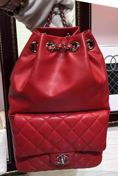 Chanel Backpack Original Sheepskin Leather A94417 Red