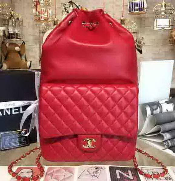 Chanel Backpack Original Sheepskin Leather A94430 Red