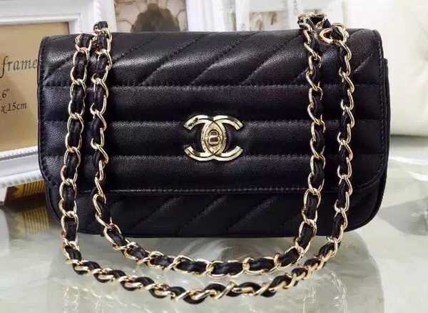 Chanel Flap Bag Sheepskin Leather A93229 Black