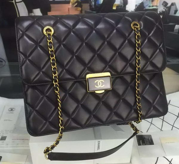 Chanel Flap Shoulder Bag Original Sheepskin Leather A63273 Black