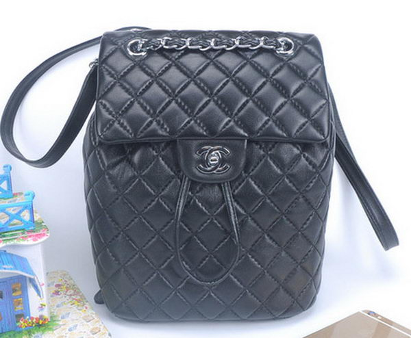 Chanel Sheepskin Leather Backpack A91121 Black