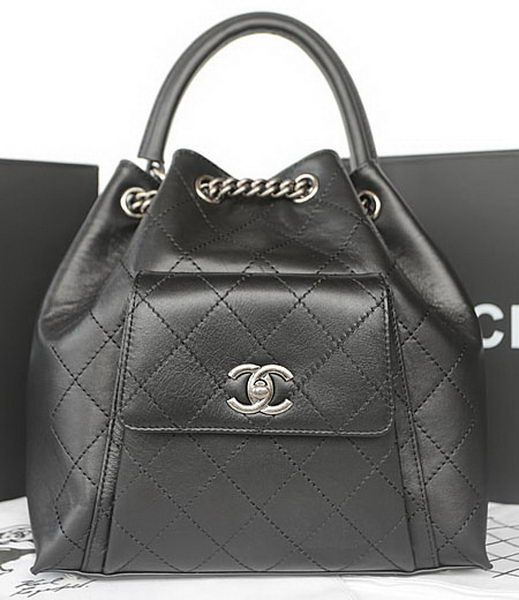 Chanel Top Handle Bag Original Calfskin Leather A93880 Black