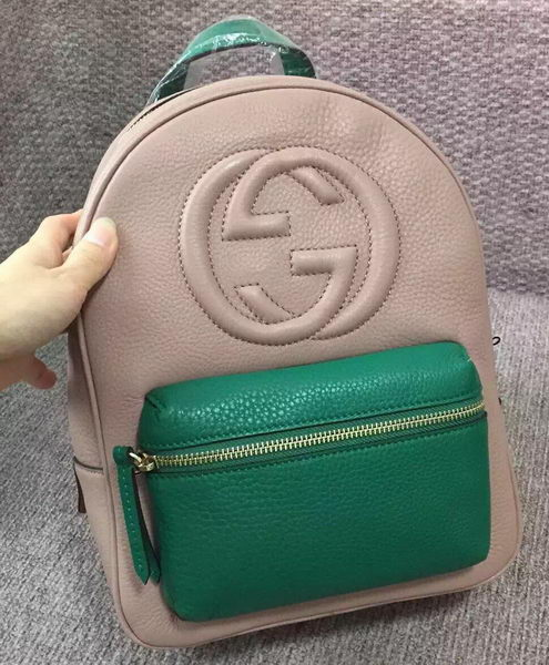 GUCCI Soho Leather Chain Backpack 431570 Apricot