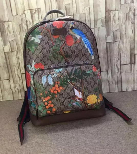 Gucci Tian GG Supreme Backpack 428027 Brown