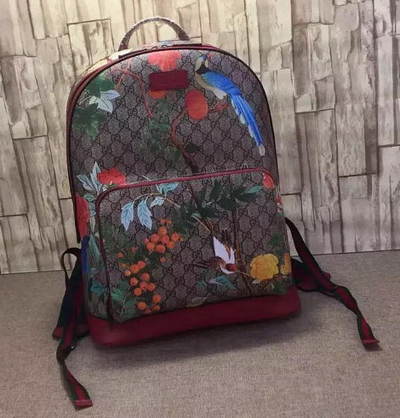 Gucci Tian GG Supreme Backpack 428027 Red