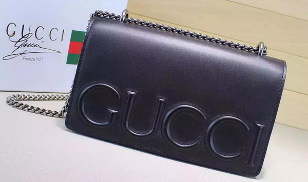 Gucci XL Calfskin Leather mini Bag 421850 Black