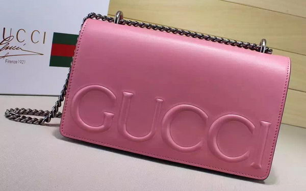 Gucci XL Calfskin Leather mini Bag 421850 Pink