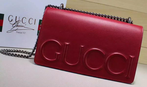 Gucci XL Calfskin Leather mini Bag 421850 Red
