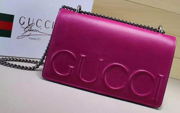 Gucci XL Calfskin Leather mini Bag 421850 Rose