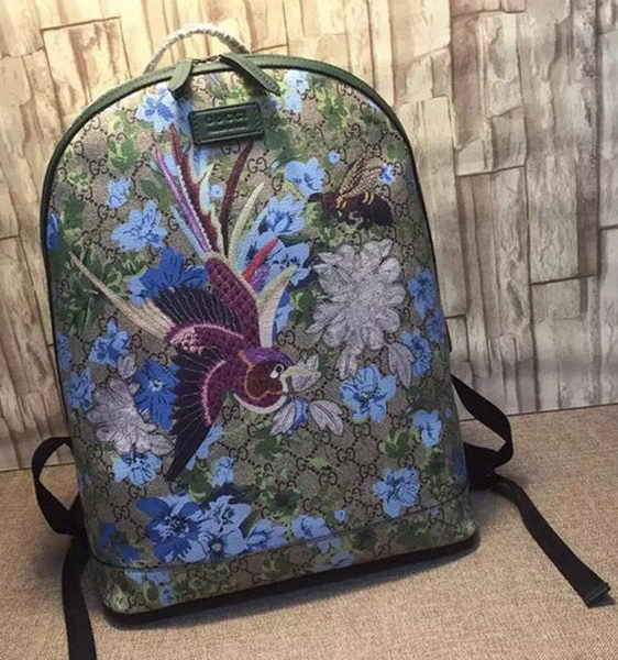Gucci XL GG Floral Print Backpack 419584 Green