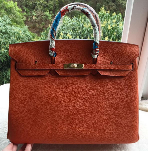 Hermes Birkin 40CM Bag Original Leather BK40 Orange