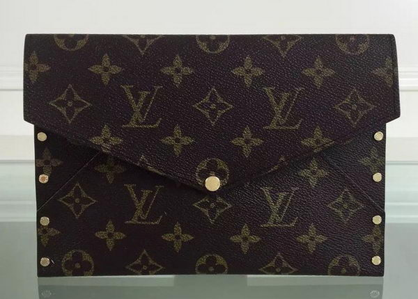 Louis Vuitton Monogram Canvas RIVETS ENVELOPPE M58451