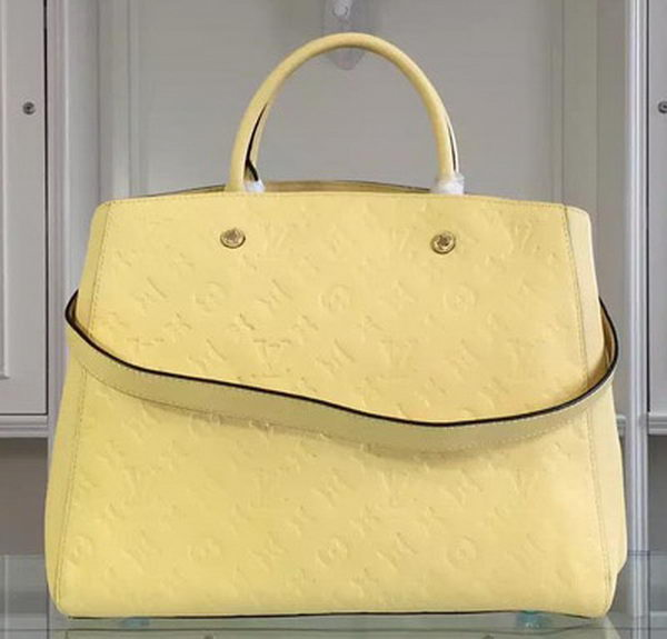 Louis Vuitton Monogram Empreinte MONTAIGNE GM Bag M41069 Yellow