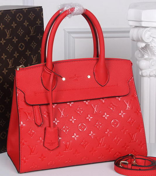 Louis Vuitton Monogram Empreinte PONT-NEUF MM Bag M41752 Red