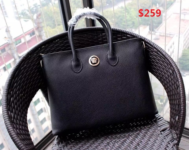 Versace Top Handle Bag V08221 Black