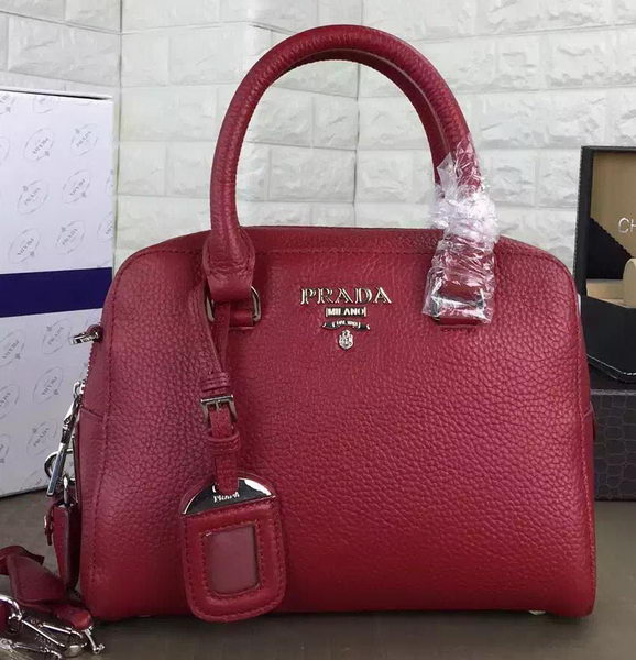 Prada Grainy Leather Top Handle Bag BL2980 Red