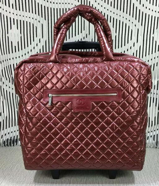 Chanel CoCo Nylon Trolley A33045 Burgundy