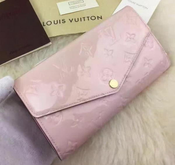 Louis Vuitton Monogram Vernis SARAH WALLET M61227 Pink