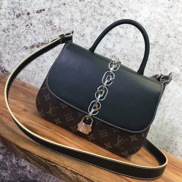 Louis Vuitton Monogram Canvas Bag 40557 Black